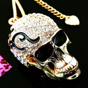 Betsey Johnson skull/flame necklace